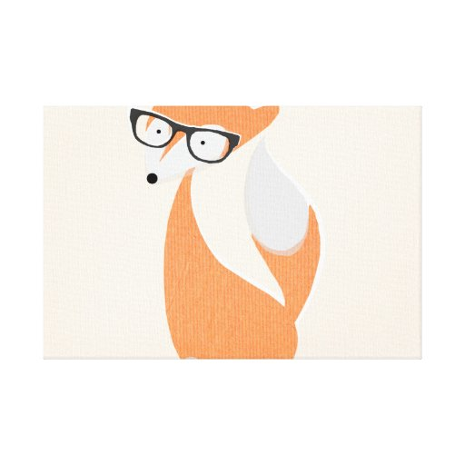 Fox In Glasses Gallery Wrapped Canvas