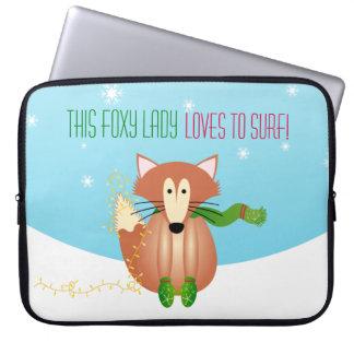 Fox in Mittens laptop case