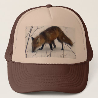 Fox in Snow Trucker Hat