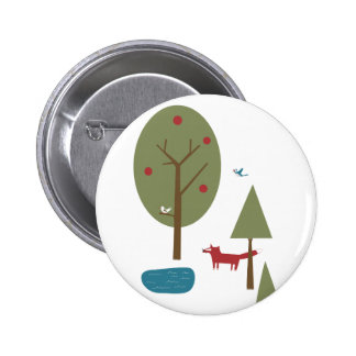 Fox in the Forest 6 Cm Round Badge