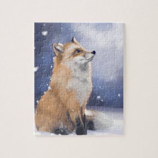 Fox in the snow jigsaw puzzle