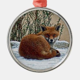 Fox in the snow Ornament