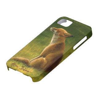 Fox in the Sun by Alex Jabore Barely There iPhone 5 Case