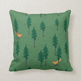 Fox in the woods. cushion