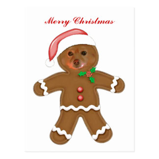Fox Is A Gingerbread Man Postcard
