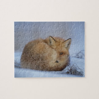fox jigsaw puzzle, fox gift for animal lover jigsaw puzzle