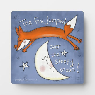 Fox  Jumps Over the Moon Plaque