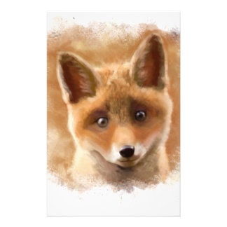 Fox Kit Smiling Stationery Paper