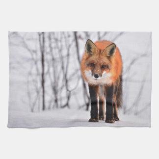 fox kitchen towel, foxy tea towel, fox cub home de tea towel