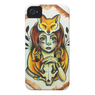 Fox Lady iPhone 4 Case-Mate Case