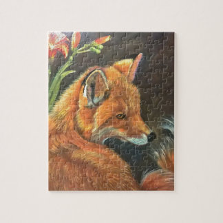 fox landscape paint painting hand art nature jigsaw puzzle