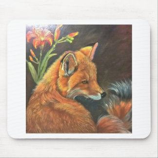 fox landscape paint painting hand art nature mouse mat