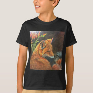 fox landscape paint painting hand art nature T-Shirt
