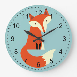 Fox Large Clock
