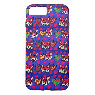 fox leaves heart iPhone 8 plus/7 plus case