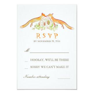 Fox Love Wedding RSVP Cards