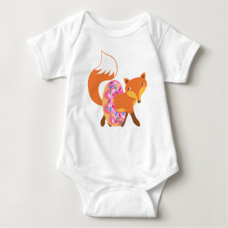 Fox loves donut baby bodysuit