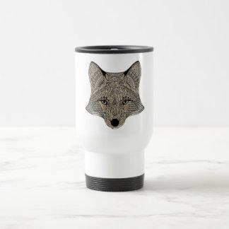 Fox metallic fox art collection white travel mug