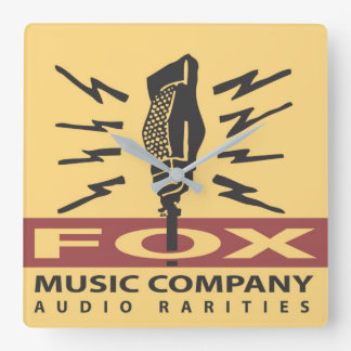 Fox Music Company Audio Rarities Wall Clock