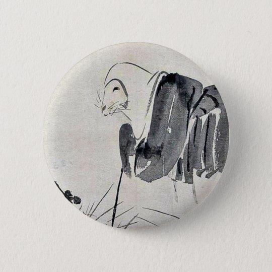 Fox nun Ukiyoe 6 Cm Round Badge