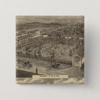 Fox nursery, res, orchard 15 cm square badge