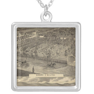 Fox nursery, res, orchard silver plated necklace