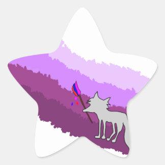 Fox of Colors Star Sticker