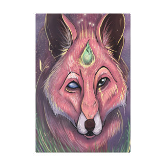 Fox of wisdom canvas print