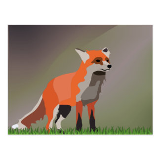 Fox on meadow postcard