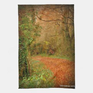 Fox on the Golden Path Poster ~ Fantasy Tea Towel