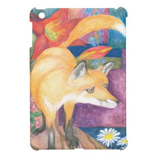 fox painting i-pad mini case case for the iPad mini