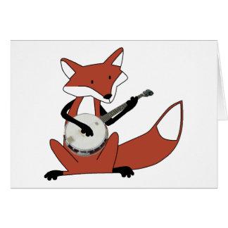 Fox Playing the Banjo Greeting Card