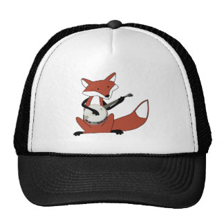 Fox Playing the Banjo Trucker Hats