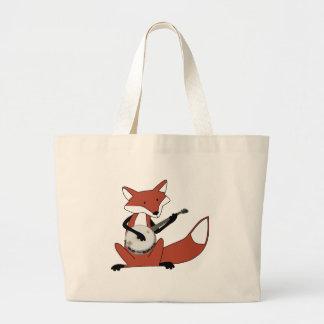 Fox Playing the Banjo Jumbo Tote Bag