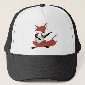 Fox Playing the Banjo Trucker Hat
