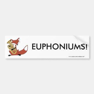 Fox Playing the Euphonium Bumper Sticker