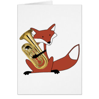 Fox Playing the Euphonium Card