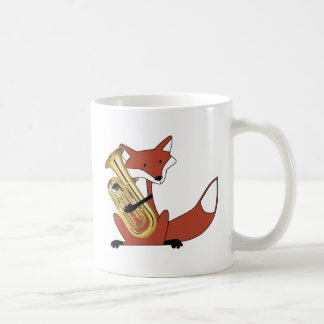 Fox Playing the Euphonium Coffee Mug
