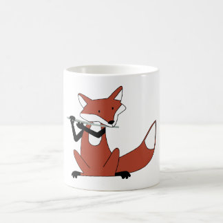 Fox Playing the Flute Mugs