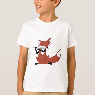 Fox Playing the Flute T-Shirt