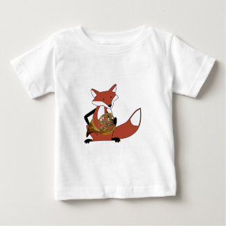 Fox Playing the French Horn Tees