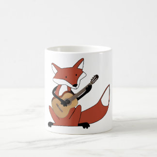 Fox Playing the Guitar Coffee Mug