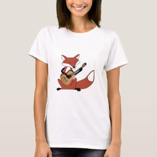 Fox Playing the Guitar T-Shirt
