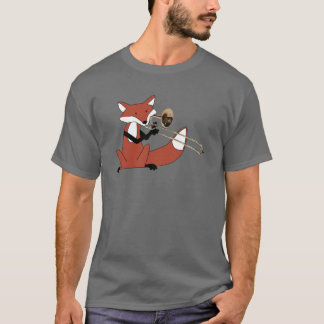 Fox Playing the Trombone T-Shirt
