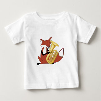 Fox Playing the Tuba Baby T-Shirt