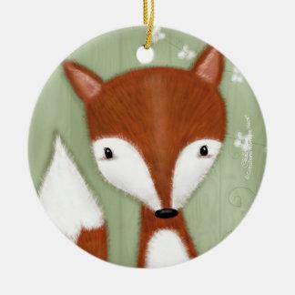 Fox Portrait Christmas Ornament