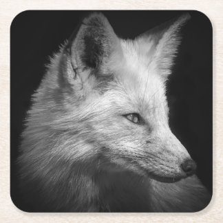 Fox Portrait Coasters Square Paper Coaster