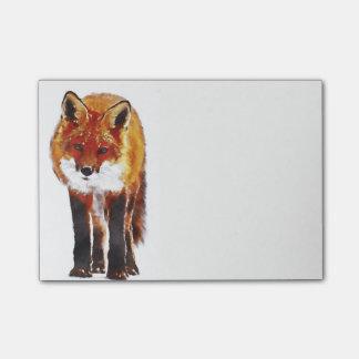 fox post it notes, foxy notepad, fox cub post-it notes