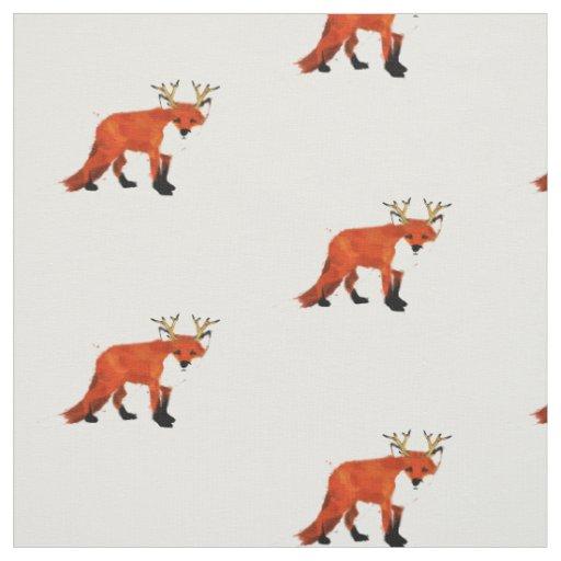 Fox print fabric zazzle for Fox print fabric
