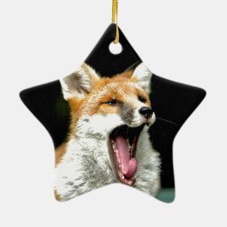 Fox - pro photo ceramic star decoration